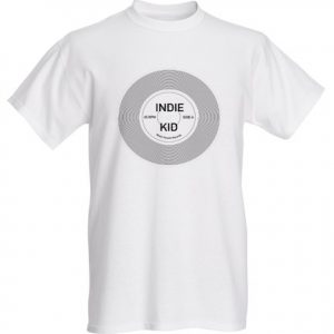 Indie Kid record t shirt design