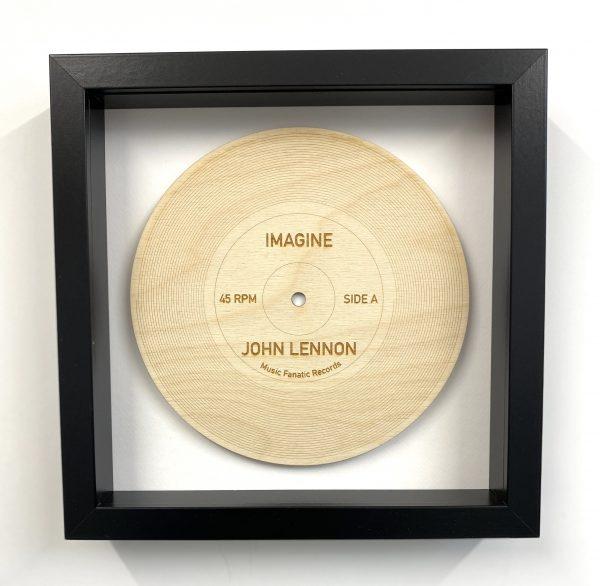 wood record Imagine black frame
