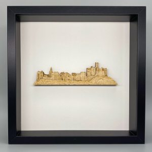 Black framed Warworth Castle picture