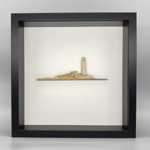 Wood St Marys Lighthouse Black frame
